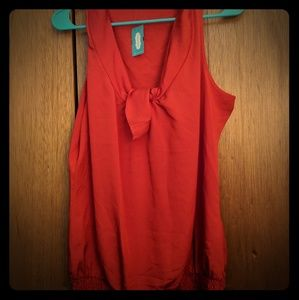 Maurices Sleeveless Blouse with Tie